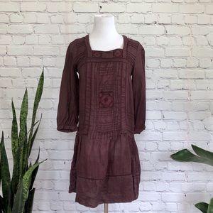 Zara Basics Bohemian Cotton Dress